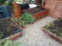 4 Raised Beds. Garden or Allotment. Used. Folding and stackable.