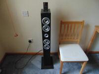 Itek iRise Mains Powered Tower Speaker / iPod Dock. + Remote & Instructions