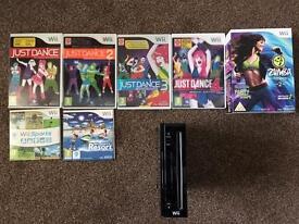 Nintendo Wii & just dance games bundle