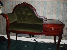 TELEPHONE SEAT WITH DRAWER IN GOOD CONDITION - IRVINESTOWN AREA - £50 - NO SUNDAY CALLERS