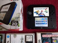 NINTENDO 2DS CONSOLE MARIO KART 7 BUNDLE BOXED NEW! + GAMES