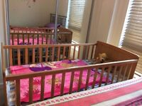 Baby Cot with Mattress in excellent condition, rarely used