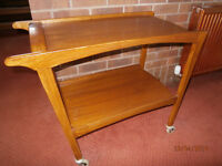 Traditional solid wood 'hostess' trolley