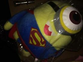 Minions superman soft toy baby kids new