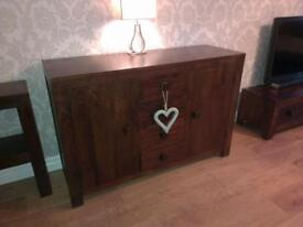 Dark Mango Wood Sideboard