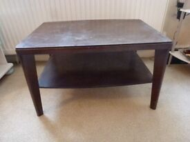 Dark Wood Coffee Table...Upcycle Project