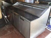 Williams CPC4 Refrigerated Pizza Prep Unit. For Repair - Needs New Compressor.