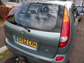 Nissan Almera Tino SE 1.8 Petrol with 12 Months MOT Very Low Mileage