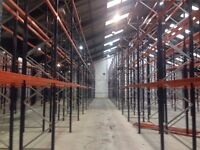 10 bay run of dexion style pallet racking ( storage , industrial shelving )