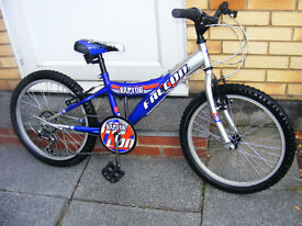 "BOYS 20"" WHEEL FALCON BIKE IN GREAT WORKING ORDER HARDLY USED AGE 7+"