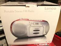 Lenco portable stereo fm radio for sale
