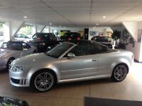 Silver Audi rs4 cabriolet 61000 miles