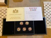 Rupert Bear Silverproof 50p coin set