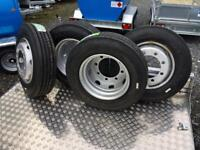 215 75 17.5 J rated wheels tyres for Lowloader plant trailer truck trailer wheels