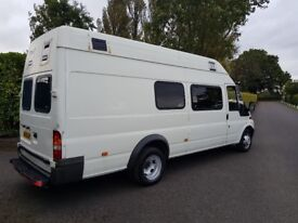 2006 ford transit t430 jumbo lwb extra high roof ex police riot bus your new camper van 90k fsh