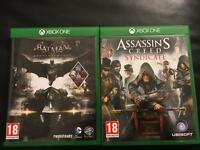 Batman Arkham Knight + Assassins Creed Syndicate for Xbox One (used)