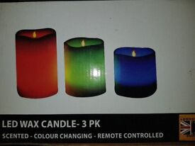 Real wax candle lights with remote