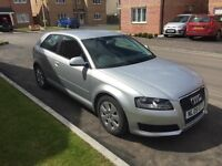 Audi A3 TDIe 1.9 Sportback- Silver - full service history. 62.8mpg. Excellent condition.