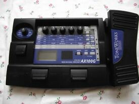 Korg AX100G Electric Guitar Effects Pedal :- Distortion, Chorus, Delay, Wah, Drums etc