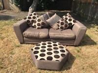 Dfs sofa and foot rest