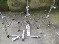 Drum and cymbal stands for sale