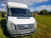 NO VAT. Ford Transit 100 T350M RWD Box Van, 1 Owner, 107,000 Miles, FSH,MOT 05/7/19,TEL-07477651115