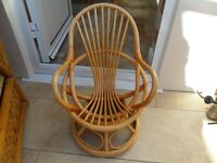 CHILDS OR TEDDY BEARS CANE CHAIR