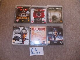 PLAYSTATION 3 GAMES £6 THE LOT