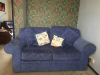 Blue Bed Settee for sale, rarely slept on.