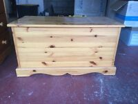 Solid Pine Toy/Blanket box