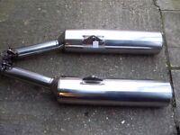 Honda blackbird cbr 1100 xx end cans in excellent condition.