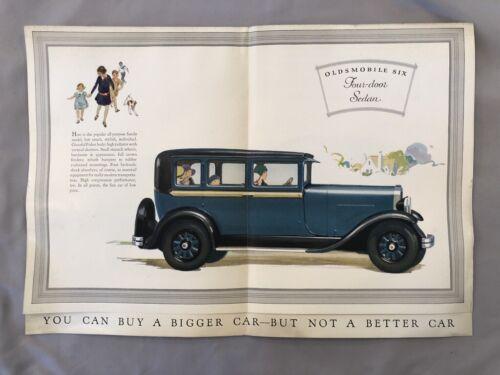 c 1930 OLDSMOBILE SIX Sedan AUTO ADVERTISING Car Brochure