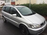 Vauxhall Zafira 2004 2.2 petrol Elegance, 2004, long MOT - Spares/Repair -CHEAP!