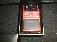Boss loop pedal and amp.