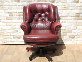 Leather Directors Chair Chesterfield (Delivery)