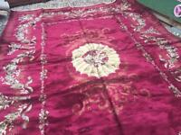 Red large rug 11ft x 10ft £30
