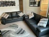 2 x 3 Seater Faux Leather Sofas *Brand New Condition*