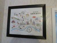 London Landmarks Excellent Condition Framed Print Eye Catching