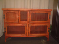 brand new 4ft 2 tier rabbit/guinea pig hutch in red