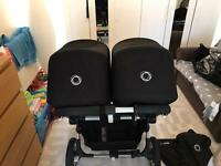 Bugaboo Donkey Duo Silver frame with black fabric