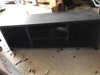 Black wooden TV unit