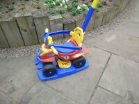 Injusa Buddy Quad 6 in 1 Fun, safe and stable ride-on Blue