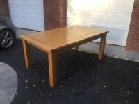 Oak extendable dining table for sale
