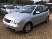 VOLKSWAGEN POLO 1.2 E HATCHBACK 5DR 2004*IDEAL FIRST CAR*CHEAP INSURANCE* LOW MILEAGE*HPI CLEAR