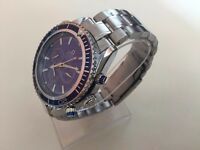 New Omega Sea Master Co-Axial Automatic watch with blue dial
