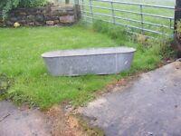 vintage galvanized tin bath for sale