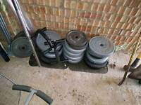 Weight lifting bench sit up bench weight plates