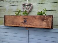 rustic planter reclaimed wood shabby chic style aprox 90 cm wide other sizes availible