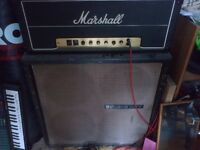 Marshall JMP MK2 Lead 50W (1977) with Soundcity 4x12 cab (1968)