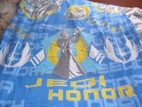 single quilt cover, pillow case and light shade Star wars